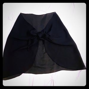 Black sarong coverup